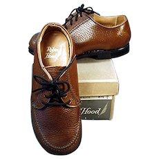 Vintage Shoes - Boy's Robin Hood Shoes - Brown Shoe Co. - Original Box