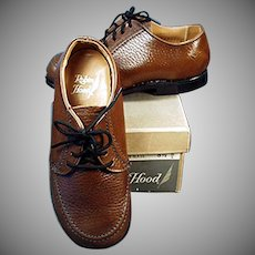 Vintage Shoes - Boy's Robin Hood Shoes - Brown Shoe Co. - Original Box