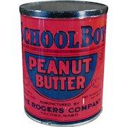 Vintage School Boy Peanut Butter Tin - Rogers Co. Seattle / Tacoma