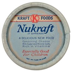 Vintage Kraft-Phenix Nukraft Kraft Foods Cheese Box – 1930's Advertising Memorabilia
