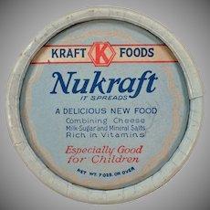 Vintage Kraft-Phenix Nukraft Kraft Foods Cheese Box – 1930's Advertising Memorabilia