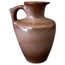 Vintage Frankoma Pottery – 10oz. Honey Jug Pitcher – Brown Glaze
