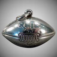 Vintage Football Charm – 1953 C.C.H.S. - Sterling Silver