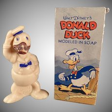 Vintage Figural Soap - Old Disney Donald Duck Soap with Original Box