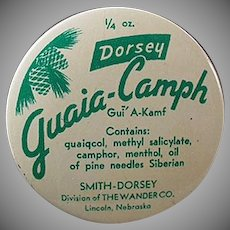 Vintage Medicine Tin - Guaia-Camph Ointment - Old Medical Advertising Tin
