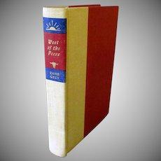 Vintage Zane Grey Book – West of the Pecos – 1965 Copyright