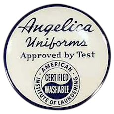 Vintage Advertising Tape Measure -  Angelica Uniforms - Celluloid