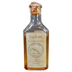 Vintage Glass Bottle - Old Nu-Tone Phonograph Record Renewer