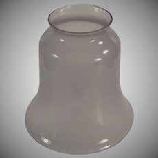 Vintage Light Fixture Shade - Single Glass Shade - Frosted Pale Lavender