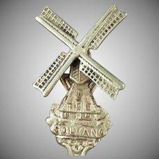 Vintage Solvang Souvenir Spoon - California - Windmill Design