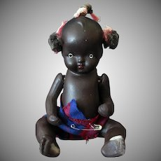 "Vintage Japanese Bisque – 5"" Black Baby Doll"