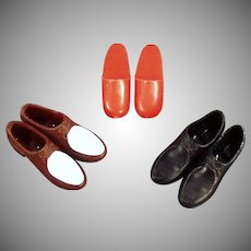 Vintage Ken Doll Accessories - 3 Different Pairs of Shoes