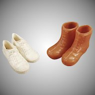 Vintage Ken Doll Accessories - 2 Pairs of Shoes for the Athletic Ken