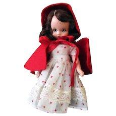 Vintage Nancy Ann Storybook Doll – Little Red Riding Hood – Hard Plastic