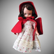 Vintage Nancy Ann Storybook Doll – Little Red Riding Hood – Hard Plastic