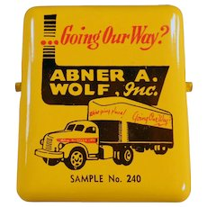 Vintage Advertising Paper Clip -Truck Graphics - Abner A. Wolf, Inc.