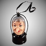 Vintage Halloween Lantern - Battery Operated Celluloid Witch