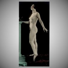 Vintage Photograph - 1920's Posed Nude Woman - Hand Tinted