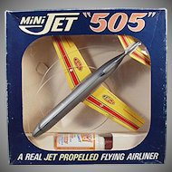 Vintage Toy Airplane - Mini Jet 505 Propelled Airliner with Original Box
