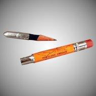 Vintage Bullet Pencil - Souvenir of Portland Oregon Advertising Pencil
