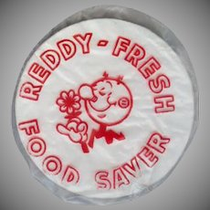Vintage Reddy Kilowatt Advertising - Old Plastic Food Saver