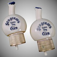Vintage Bottle Stoppers - Seagram's Gin Bottle Pour Caps