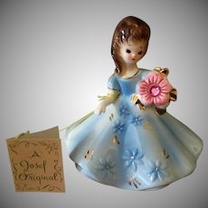 Vintage Josef Original Birthday Girl - October Opal with Hang Tag