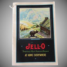 Vintage Jell-O Recipe Booklet -  At Home Everywhere with Ice Cream Insert