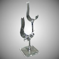 Vintage Shoe Stand - Lucite Stand for a Pair of Shoes - Deco Style