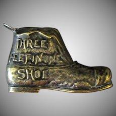 Vintage Three Feet in One Shoe – Old Metal Figural Tape Measure