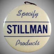 Vintage Advertising Tape Measure - Stillman Products - Celluloid