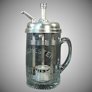 Vintage Syrup Dispenser - Rochester Mug Root Beer Soda Fountain Advertising