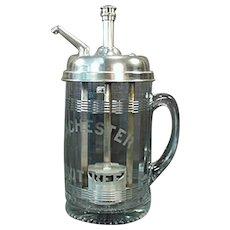 Vintage Syrup Dispenser - Rochester Mug Root Beer Soda Fountain Advertising