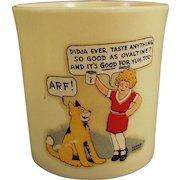 """Vintage Beetleware Ovaltine Mug - Orphan Annie and Sandy """"ARF"""""""