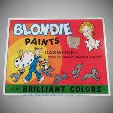 Vintage Water Color Paint Set Tin - Blondie & Dagwood Comic Character