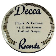 Vintage Record Duster - Decca Records Advertising - Celluloid