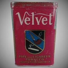 Vintage Tobacco Tin - Velvet Pipe & Cigarette Tobacco Tin