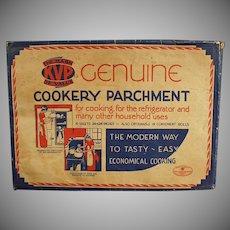 Vintage Kitchen Decorating Item - Cookery Parchment Paper ca. 1930's