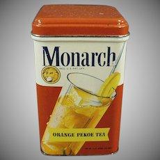 Vintage Tea Tin - Reid Murdoch Monarch Tin with Colorful Graphics