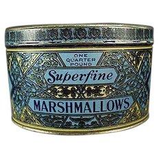 Vintage Marshmallow Tin - Woolworth's Woolco Brand Marshmallows