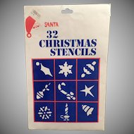 Vintage Christmas Window Stencils - 30 Designs - Unused
