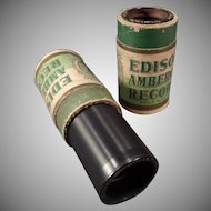 Vintage Wax Cylinder Phonograph Records - Two Edison Amberols with Vocalist Collins