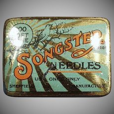 Vintage Phonograph Needle Tin - Songster - Tin Only