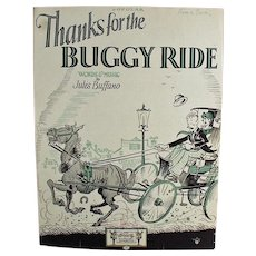 Vintage Sheet Music - Thanks for the Buggy Ride - 1925