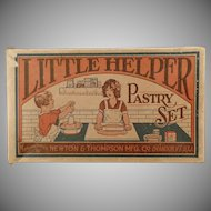Vintage Toy Box - Little Helper Pastry Set - Box Only - 1930's