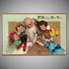 Vintage Postcard - New Years - Beautiful Frances Brundage Children