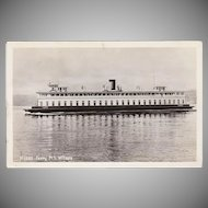 Vintage Postcard - Ferry M.S. Willapa Photograph - Seattle, Washington