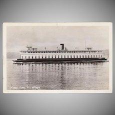 Vintage Postcard - Ferry M.S. Willapa Photograph - Seattle, Washington