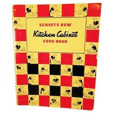 Vintage 1940's Sunset's New Kitchen Cabinet Cook Book – Spiral Bound Edition