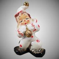 Vintage California Josef Original – Porcelain Clown with Shiny Gold Horn